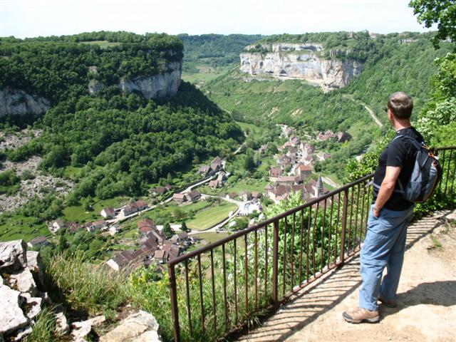 Baumes les messieurs Jura France  guided walking France