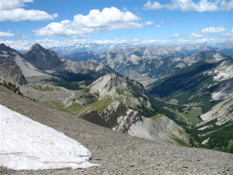 amazing panoramic views in French Alps Queyras