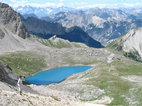 ste anne lake above ceillac Queyras Alps guided walking France