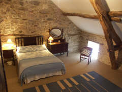 Le Claouzet bedroom self catering accommodation Tarn France for walking holiday
