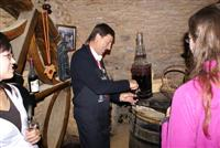 wine tasting beaujolais on indepednt walking tour of medieval villages in France