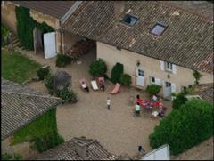 self catering rental property view from above independent walking France
