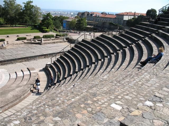 Roman ampitheatre Fourviere Lyon France