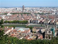 View of Lyon from Fourviere France