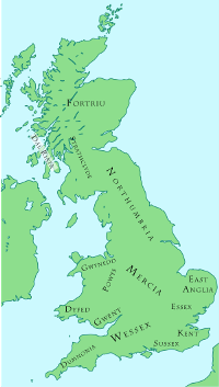 Map Of Old England Wessex.Wessex Anglo Saxon Kingdom Of South West England