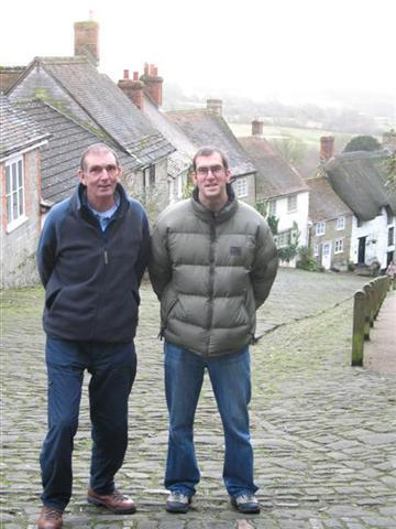 Founder tony with partner with william armstrong in dorset walking country