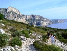 walking in calanques, france