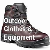 outdoor walking clothing and equipment