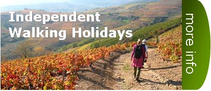 independent walking holidays France Beaujolais Alsace Haute Loire Burgundy Cantal Auvergne Queyras Alps