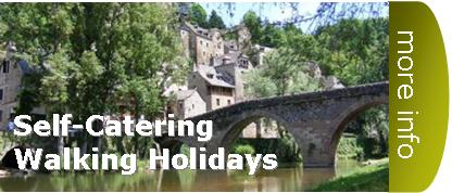 self catering accommodation cottages walking hiking trekking holidays tours in France europe