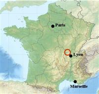 map location of golden stones pierre dorees in France