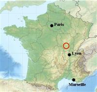 map location southern Burgundy France