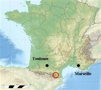 map location of cerdagne Pyrenees south France