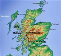 location map west highland way and skye scotland