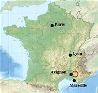 location map luberon provence