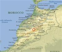 Map Morocco location Mgoun High Atlas guided walking holiday