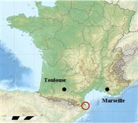 map location of catalan coast pyrenees and med