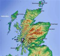 location map trossachs and islands in Scotland UK