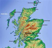 location map trossachs scotland uk
