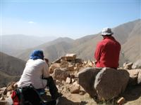 Hats and scarfs to cover up in the sun in the High Atlas of Morocco