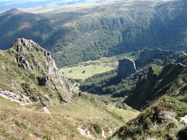 Valley near Puy de Sancy Auvergne guided walking France