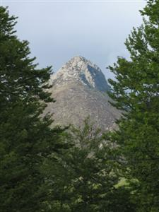 Pointed mountain of Puy Griou in Auvergne