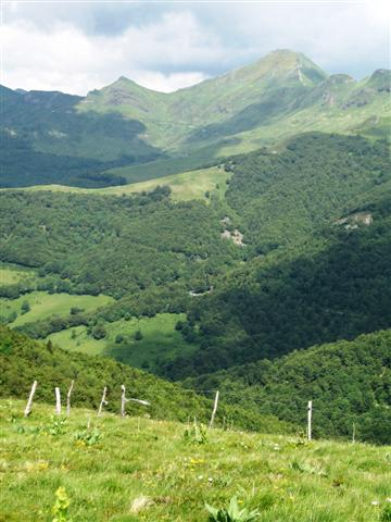 View of Puy Mary from near Puy Griou Cantal Auverge France guided walking holiday