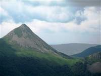 Puy griou volcanic mountain on French guided walks in Cantal