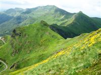 Cantal mountains in south Auvergne France