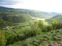 valley in Auvergne on independent walking holiday in France