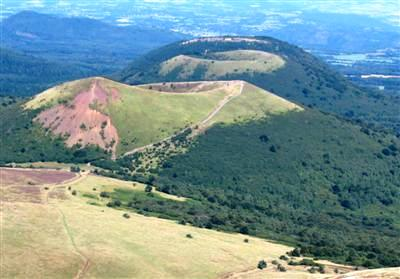Puy Pariou from Puy de Dome Auvergne France guided walking holiday