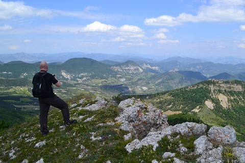 views mountains baronnies alpine provence