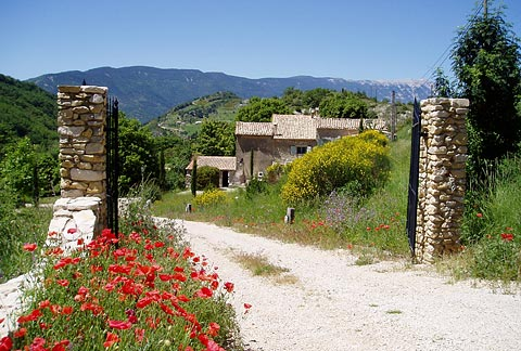 La maison de marguerite guest house Baronnies Provence France guided walking holiday