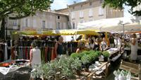 Local market in buis les baronnies, Provence, France during guided walking holiday