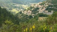 perched village in baronnies region on self guided walking holiday