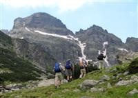 walking to acclimatise in alps of Europe trekking holidays