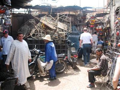 souks iron mungery Marrakech high atlas Morocco guided walking trekking tour