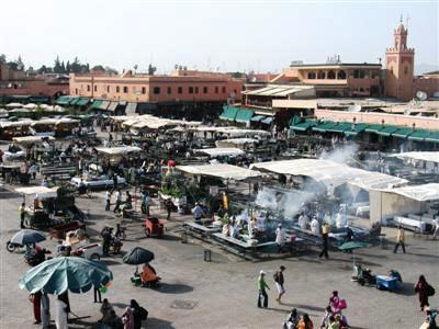 jemaa el fna Marrakech morocco high atlas guided walking and trekking holidays tours