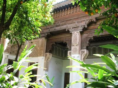Bahia Palace Marrakech Morocco high atlas guided trekking and walking tours and holidays