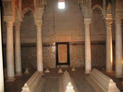 Saadian Tombs Marrakech morocco high atlas toubkal guided trekking walking holiday tour