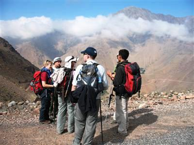 local guide tizi Tamatert Toubkal High Atlas Morocco Africa Guided trekking and walking tours and holidays