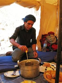 Lunch berber guided Toubkal High Atlas Morocco Africa guided trekking and walking holidays