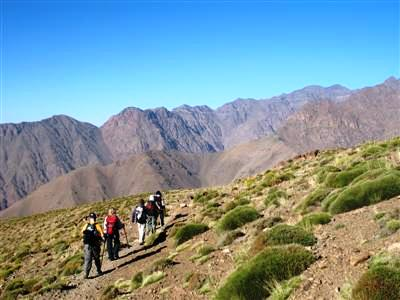 Tizi n'Ououraine Toubkal High Atlas Morocco Africa guided trekking tour