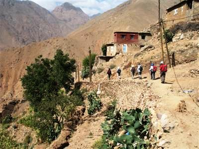berber village Toubkal High Atlas Morocco guided trek walk holidays and tours