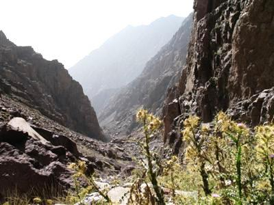 gorge Toubkal range High Atlas Morocco Africa guided trekking and walking holidays and tours