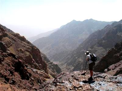 Toubkal mountain High Atlas Morocco Africa guided trekking tour