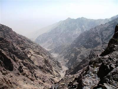 Toubkal mountain range high atlas morocco Africa guided trekking tours and holidays