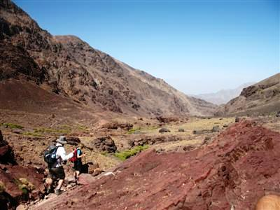 Nelter shelter Jbel Toubkal High Atlas Morocco Africa guided trekking tour