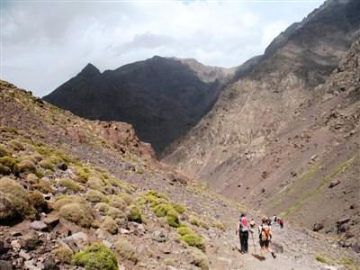 Assif Ouagounss Valley ascent jbel toubkal High Atlas morocco guided trekking holiday and tours