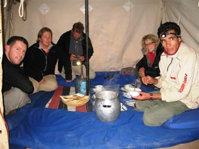 moroccan food evening meal Jbel Toubkal mountain High Atlas Morocco guided trekking and walking holidays and tours